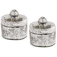 Pomeroy 518843/S2 Lustra 4 X 3 inch Antique Silver Box, Small Oval