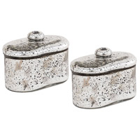Pomeroy 518850/S2 Lustra 5 X 3 inch Antique Silver Box, Large Oval