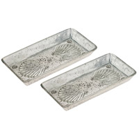 Pomeroy 518874/S2 Novell Antique Silver Tray