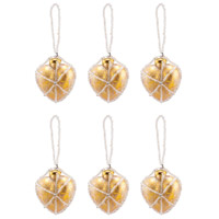 Beaded Ornaments Gold Holiday Ornaments