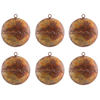 Medallion Hammered Burned Copper Holiday Ornaments