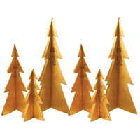 Pomeroy 519420/S6 Northern Gold Foil Holiday Trees