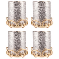 Gwendolyn Gold/Antique Silver Holiday Pillar Holders