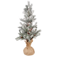 Pomeroy 519536 Winters Edge Frosted Evergreen/Burlap Holiday Tree