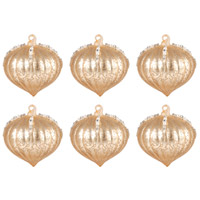 Pomeroy 519611/S6 Pointed Ball Gold Holiday Ornaments