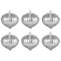 Pointed Ball Silver Ornament