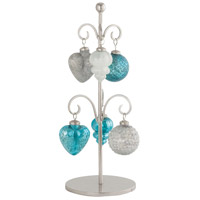 Glazyer Antique Blue and Antique Silver Ornament Stand