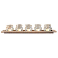 Beachwood Beachwood/Clear Votive Tray