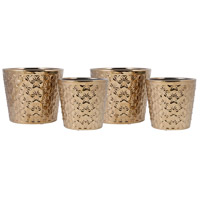Astria Gold Holiday Planters