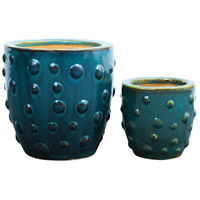Tortuga Cyan Waters Garden Item, Set of 2