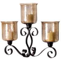 Cheyenne Rustic/Hammered Brown Lustre Mantle Light
