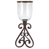 Hacienda 29 inch Montana Rustic/Clear Hurricane Portable Light
