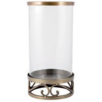 Tower 15 inch Antique Brass/Clear Hurricane Portable Light