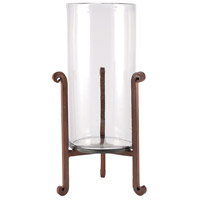 Santana 15 inch Montana Rustic/Clear Hurricane Portable Light