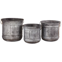 Fallmont Antique Galvanized Outdoor Planters