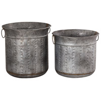 Leighann Antique Zinc Outdoor Planter