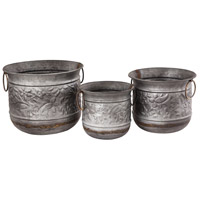 Feldman Galvanized Outdoor Planters