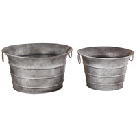 Fairhaven Galvanized Outdoor Planters