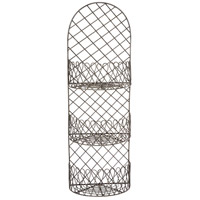 Piazza Zinc Wall Rack