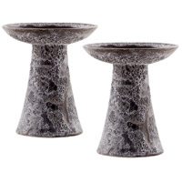 Pomeroy 565038/S2 Lunetta Ancient Grey Outdoor Garden Pillars, Tall