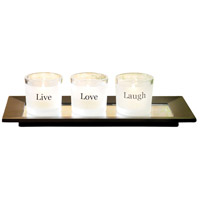 Sentiments Black/Clear/Frosted Pillar Tray
