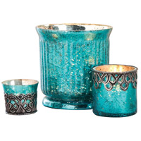 Audrey Antique Turquoise Artifact/Silver Votive