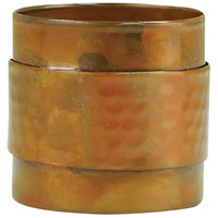Strap Hammered Burned Copper Napkin Ring