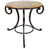 Sierra 25 X 25 inch Mango Wood/Montana Rustic Side Table Home Decor