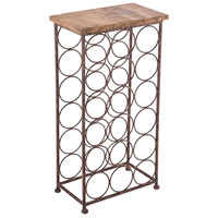 Littleford Natural and Rustic Table Wine Rack