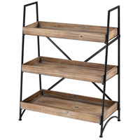 Brenswick Roasted Fir with Rustic Garden Storage Shelf