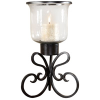 Paisley 21 inch Rustic/Clear Hurricane Portable Light