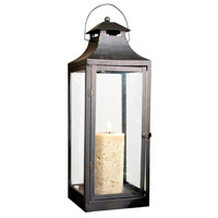 Corillian 8 inch Rustic/Clear Lantern Ceiling Light