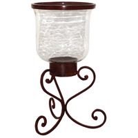 Deseo 19 inch Montana Rustic/Clear Hurricane Portable Light