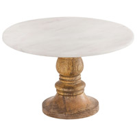 Pomeroy 619533 Regency 10 X 10 inch Mango Wood and Natural Agate Cake Stand, Medium