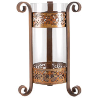 Deveraux 14 inch Burned Copper/Clear Hurricane Portable Light