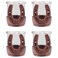 Horse Shoe Montana Rustic/Clear Votive
