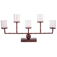 Rodeo Montana Rustic/Clear Votive Centerpiece