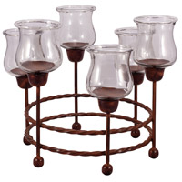 Rodeo Montana Rustic/Clear Candle Centerpiece