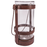 Tuscon 11 inch Montana Rustic/Clear Lantern Ceiling Light