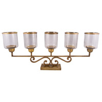 Hacienda Antique Brass/Clear Mantle Light
