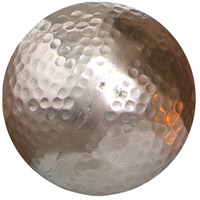 Urban Silver Hammered Sphere