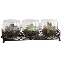 Pomeroy 670084 Canter Rustic/Clear Centerpiece