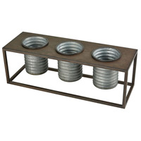 Centerville Galvanized and Rustic Outdoor Planter, Triple