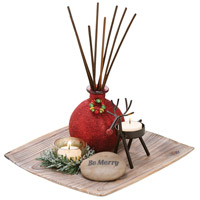 Merrily Antique Palonia/Red/Rustic/Cham Reed Diffuser Garden