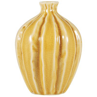 Ripples Crackle Ochre Vase