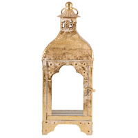 Arwen 6 inch Artisan Gold Lantern Ceiling Light