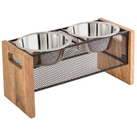 Pomeroy 771293 Farmstead Rustic/Silver/Natural Pet Product, Small Double