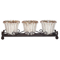 Jardin Rustic Outdoor Triple Planter, Wavy