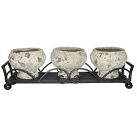 Hidalgo Rustic Outdoor Triple Planter