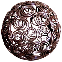Prairie Rustic Decorative Sphere